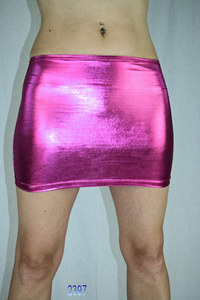 "Muse Damen Minirock ""Liquid Metal"" (Pink)"