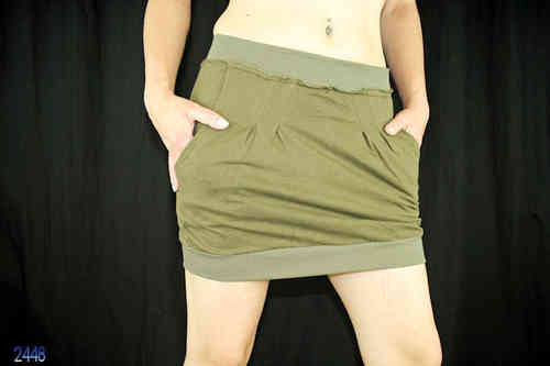 Ladies Mini Skirt (Olive)