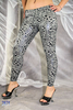 "Ladies Leggings shiny ""Tiger"" (Dark grey)"