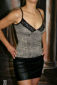 "Damen Top ""Leopard"" (Braun)"