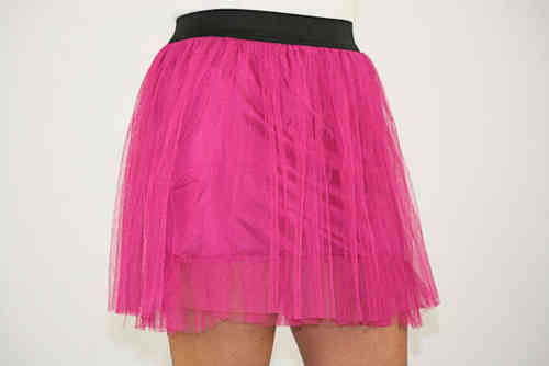 Ladies Tulle Skirt (Fuchsia)
