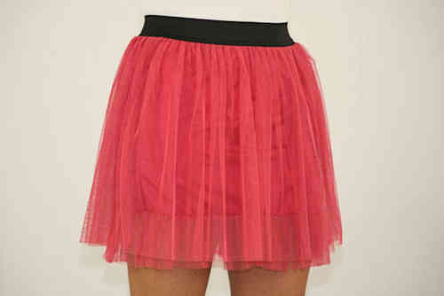 Ladies Tulle Skirt (Melon)