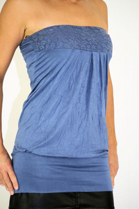 Damen Bandeau-Top blau