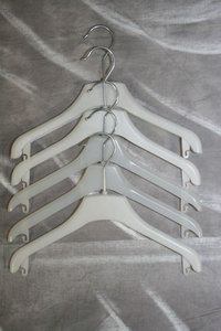 children coat hanger white