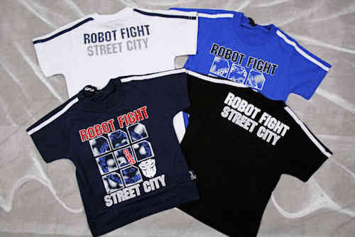 "Image Kids jongens T-shirt ""Robot Fight"""