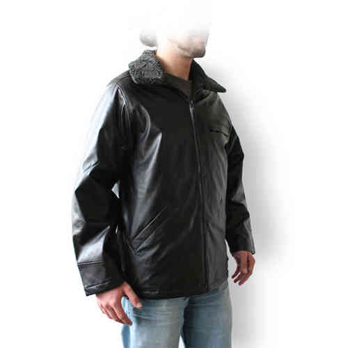 Men Leatherette Jacket