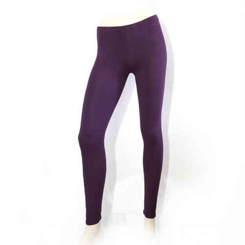 Ladies Leggings made of cotton (Purple)