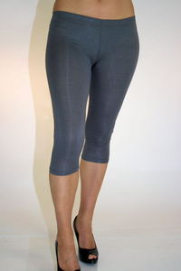 Ladies 3/4 Leggings (Grey)