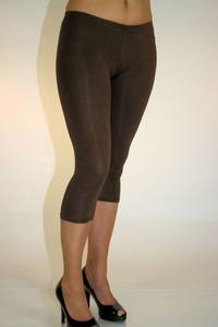 Damen 3/4 Leggings (Braun)