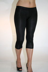 Ladies 3/4 Leggings (Black)