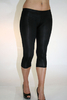 Damen 3/4 Leggings (Schwarz)