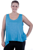 "chokri plus size dames top ""Bahia"" (turkoois)"