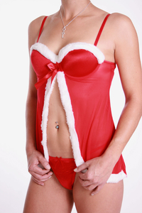 "M-Mala Ladies Negligee Set made of satin ""Santa"""