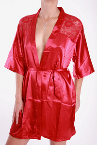 M-Mala Ladies Dressing Gown (Red)