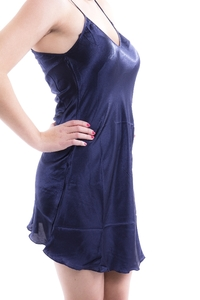 M-Mala Ladies Satin negligee (Night blue)