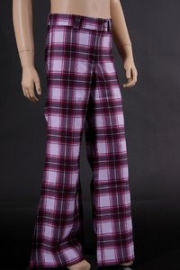 Girls Pants chequered (Purple)