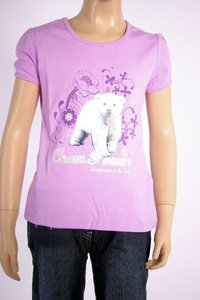 "Le tee-shirt pour fille ""ours blanc"""
