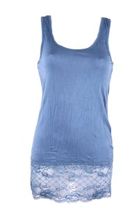 Ladies Top with lace (Blue)
