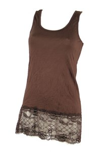 Ladies Top with lace (Brown)