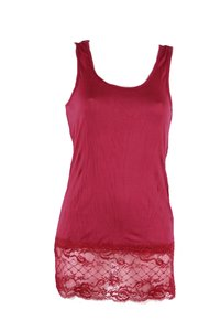 Ladies Top with lace (Red)