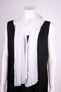 chokri Big Size Ladies Chiffon Scarf (White)