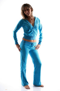 Ladies Homewear Suit made of plush (Turquoise)