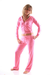 Ladies Homewear Suit made of plush (Pink)