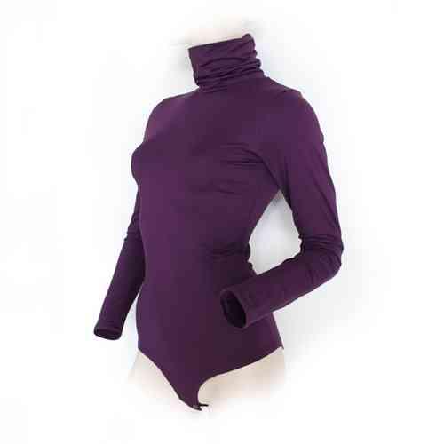 "Ladies Bodysuit with Roll Neck ""Yvonne"" (Purple)"