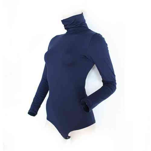 "Ladies Bodysuit with Roll Neck ""Yvonne"" (Night blue)"