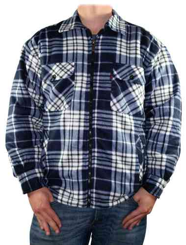Men Lumberjack Shirt (Black/Blue)