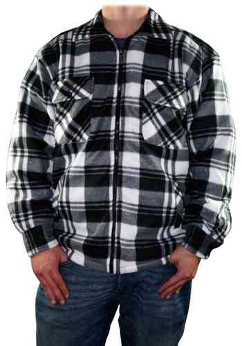 Men Lumberjack Shirt (Black/Grey)