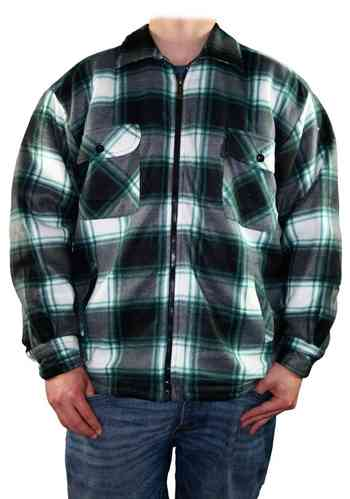 Men Lumberjack Shirt (Black/Green)