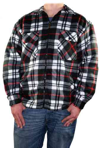 Men Lumberjack Shirt (Black/Red)