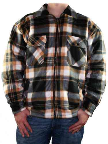 Men Lumberjack Shirt (Black/Brown)