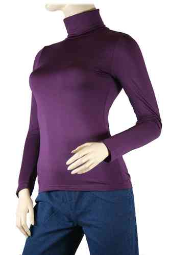 "Ladies Thermo Long Sleeve with Roll Neck ""Yvette"" (Purple)"