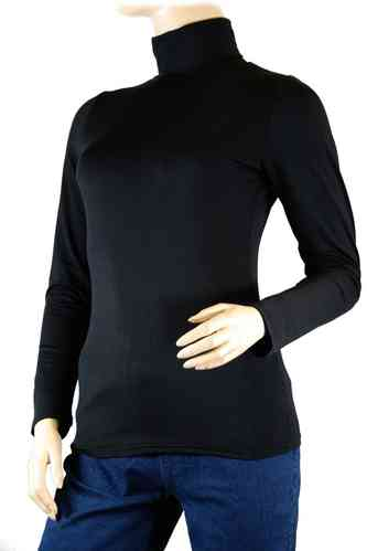 "Ladies Thermo Long Sleeve with Roll Neck ""Yvette"" (Black)"