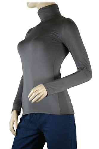 "Ladies Thermo Long Sleeve with Roll Neck ""Yvette"" (Anthracite)"