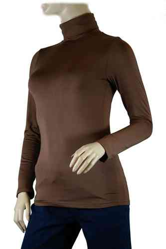 "Ladies Thermo Long Sleeve with Roll Neck ""Yvette"" (Brown)"