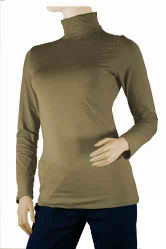 "Ladies Thermo Long Sleeve with Roll Neck ""Yvette"" (Sand)"