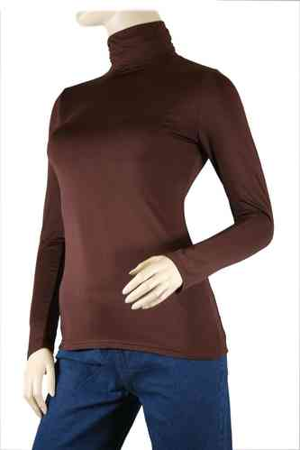 "Ladies Thermo Long Sleeve with Roll Neck ""Yvette"" (Chocolate)"