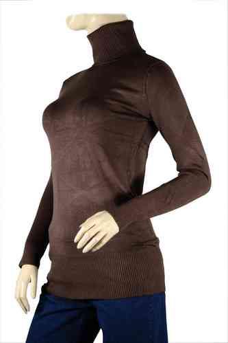 Ladies Sweater with Roll Neck