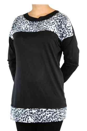 "chokri Big Size Ladies Shirt ""Snow leopard"" (48-60)"