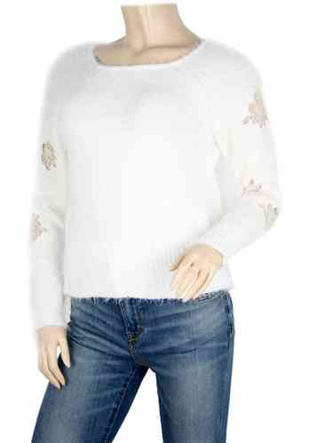 "Damen Strickpullover ""Flowers"""