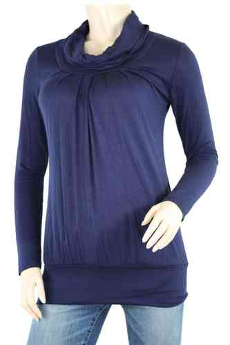 "Ladies Shirt ""Turtleneck"" (Dark blue)"