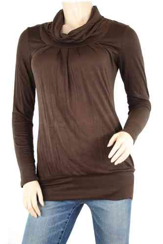"Dames shirt ""Turtleneck"" (choco)"
