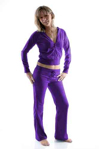 Ladies Homewear Suit made of plush (Purple)