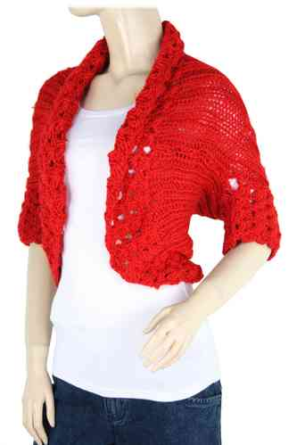 "Ladies Bolero ""Ninette"" (Red)"