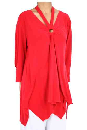 "chokri Big Size Ladies Tunic ""Elisa"" (Red)"