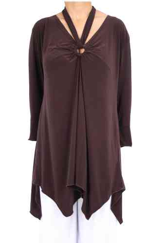 "chokri Big Size Ladies Tunic ""Elisa"" (Chocolate)"