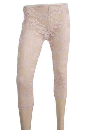 "Dames legging met kant ""Rose"" (beige)"